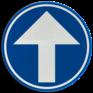 Verkeersbord D01c - Verplichting rechtdoor
