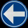 Verkeersbord D01a - Verplicht links afslaan
