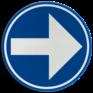 Verkeersbord D01d - Verplicht rechts afslaan