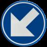 Verkeersbord D01f - Verplicht links aanhouden