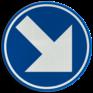 Verkeersbord D01g - Verplicht rechts aanhouden