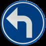Verkeersbord D01b - Verplichting de door de pijl aangeduide richting te volgen