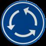 Verkeersbord D05 - Verplicht rondgaand verkeer