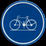 Verkeersbord D07 - Verplicht fietspad
