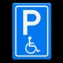 Verkeersbord E06   - Parkeren minder validen