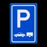 Verkeersbord E08 - Parkeerplaats auto's