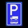 Verkeersbord E08a - Parkeerplaats vrachtwagens en bussen