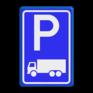 Verkeersbord E08c - Parkeerplaats vrachtwagens