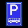 Verkeersbord E08d - Parkeerplaats bussen