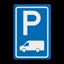 Verkeersbord BT19 - Parkeergelegenheid Busje