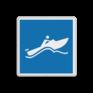 Scheepvaartbord E.21 - Snel varen voor kleine motorschepen toegestaan