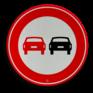 Verkeersbord F01 - Voertuigen - verboden in te halen