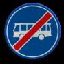 Verkeersbord F14 - Einde rijbaan of -strook lijnbussen