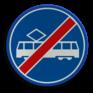 Verkeersbord F16 - Einde rijbaan of -strook trams