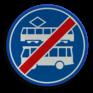 Verkeersbord F18 - Einde rijbaan of -strook lijnbussen en trams