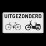 Verkeersbord M2 - uitgezonderd (brom-)fietsers