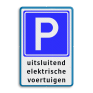 Verkeersbord BE04d - Parkeerplaats voor elektrische auto's