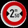 Verkeersbord C27 - Verboden voor voertuigen breder dan het aangeduide