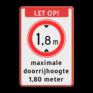 Verkeersbord BT25 -