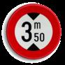 Verkeersbord C29 - Verboden voor voertuigen hoger dan het aangeduide