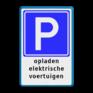 Verkeersbord BE04a - Parkeerplaats voor opladen elektrische auto's