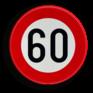 Verkeersbord C43 - Verbod te rijden met een grotere snelheid dan is aangeduid