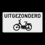 Verkeersbord M2 - uitgezonderd brommers