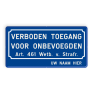 Verkeersbord BT01a -
