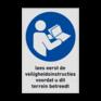 Veiligheidsbord M002 -