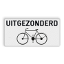 Verkeersbord M2 - uitgezonderd fietsers