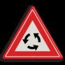 Verkeersbord J09 - Vooraanduiding rotonde
