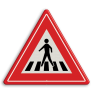 Verkeersbord J22 - Vooraanduiding voetgangers-oversteekplaats