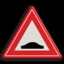 Verkeersbord J38 - Vooraanduiding verkeersdrempel