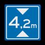 Verkeersbord L01 - Maximale doorrijhoogte