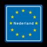 Verkeersbord L403 - Grensbord europa