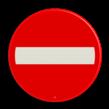 Scheepvaartbord BPR A. 1a - Invaart, uitvaart of doorvaart permanent verboden