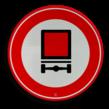 Verkeersbord RVV C22 - Gesloten voor voertuigen gevaarlijke stoffen