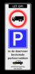 Verkeersbord ARD RVV C07 + E04 + OB206 en wielklemregeling