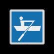 Scheepvaartbord BPR E.19 - Door spierkracht voortbewogen schepen toegestaan