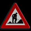 Verkeersbord België A31 - Werken