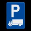 Verkeersbord België E9c - Parkeren uitsluitend voor lichte vrachtauto's en vrachtauto's