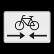 Verkeersbord RVV OB503OB02 - Onderbord - Kruising fietspad
