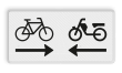 Verkeersbord RVV OB503OB04 - Onderbord - Kruising (brom)fietspad