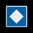 Scheepvaartbord BPR E. 5.12 - Ligplaatsen voor niet-kegelschepen