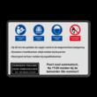 Veiligheidsbord PBM met 4 pictogrammen + eigen tekst