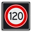 Verkeersbord RVV A01 120s - Maximum snelheid 120 km/h