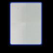 Basisbord omgezette rand - type 4:3 - rechthoek reflecterend