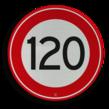 Verkeersbord RVV A01-120 - Maximum snelheid 120 km/h