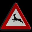Verkeersbord België A27 - Doortocht van groot wild.