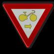 Verkeersbord België B22 - Fietsers Art. 61 - rechtsaf